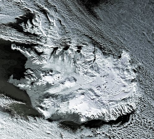 Iceland picture from NOAA-16